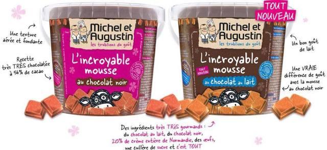 Mousses chocolat noir et au lait