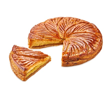 Galette frangipane Caramel beurre salé coupe Dominque Saibron