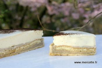 tarte infiniment vanille réalisée par Mercotte