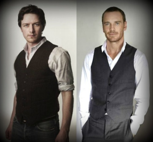 James McAvoy et Michael Fassbender